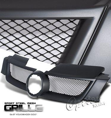 VW Golf 2006-2008 Black Steel Mesh Grille