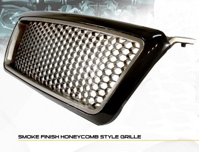 Ford F150 2004-2008 Smoked Honeycomb Mesh Grille
