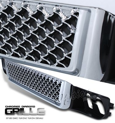 GMC Yukon Denali 2007-2008 Chrome Lower Mesh Grille