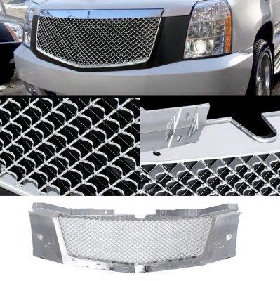 Cadillac Escalade 2007-2014 Black and Chrome Mesh Grille