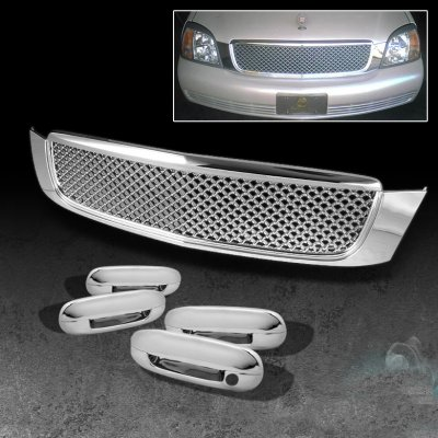 Cadillac Deville 2000 2005 Chrome Mesh Grille And Door Handle Covers A1034vvm149 Topgearautosport
