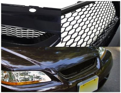 Honda Accord Coupe 1998-2002 Black Mesh Grille