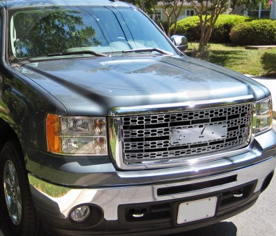 gmc sierra 2007 2013 chrome front grill a1229wde149. Black Bedroom Furniture Sets. Home Design Ideas