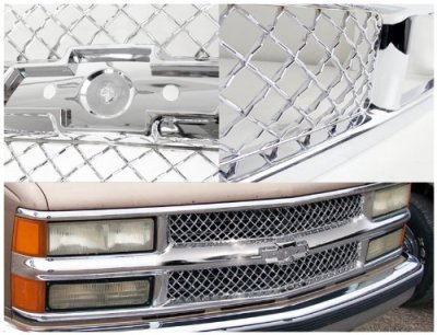 1994 Chevy 1500 Pickup Chrome Mesh Grille