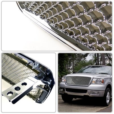 Ford F150 2004-2008 Chrome Mesh Grille