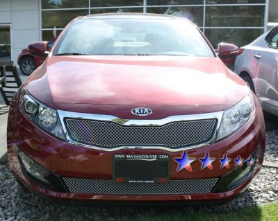 Kia Optima 2011 2012 Chrome Lower Bumper Wire Mesh Grille