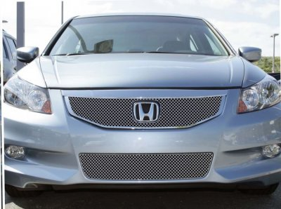 Honda Accord Sedan 2011 2012 Chrome Lower Bumper Wire Mesh