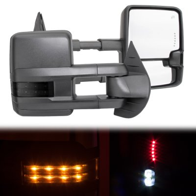 Chevy Silverado 1988-1998 Power Towing Mirrors Smoked LED Signal Lights