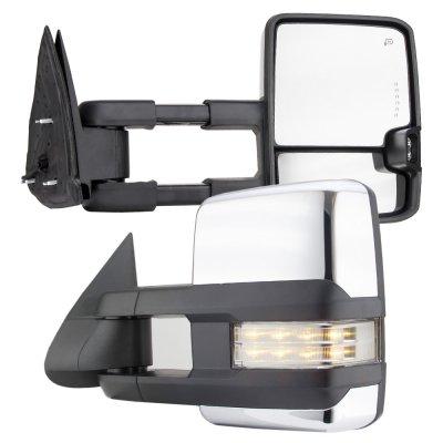 1 Set Chrome+Power+Heat+Signal Towing Mirrors for 2001-2002 GMC Sierra 3500