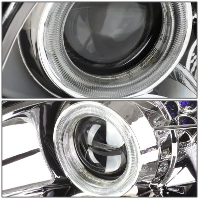 Lexus SC300 1992-1999 Clear Halo Projector Headlights with LED Daytime Running Lights