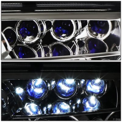 Lexus SC400 1992-1999 Clear Halo Projector Headlights with LED Daytime Running Lights