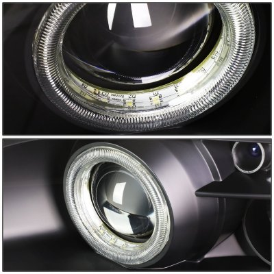 Lexus SC400 1992-1999 Black Halo Projector Headlights