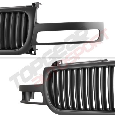 GMC Yukon 2000-2006 Black Vertical Grille and Headlights Set