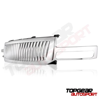 GMC Sierra 1500 2003-2006 Chrome Vertical Grille