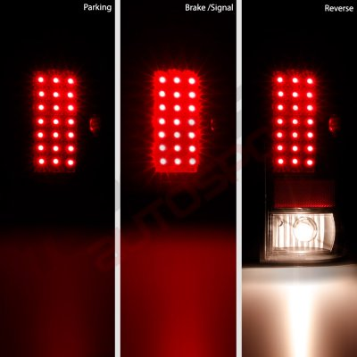 Ford F250 Super Duty 1999-2007 LED Tail Lights Black Smoked