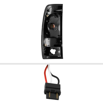 Ford F450 Super Duty 1999-2007 LED Tail Lights Black Smoked