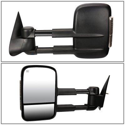 Chevy Silverado 2003-2006 Power Heated Towing Mirrors Smoked Turn Signal Lights