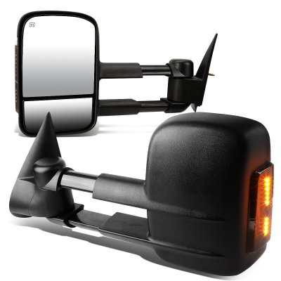 Chevy Silverado 2500HD 2003-2006 Power Heated Towing Mirrors Smoked Turn Signal Lights