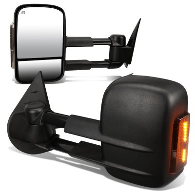 Chevy Silverado 2500HD 2007-2014 Power Heated Towing Mirrors Smoked Turn Signal Lights