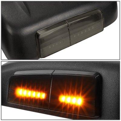 Chevy Silverado 2500HD 2007-2014 Power Heated Towing Mirrors Smoked Turn Signal Lights