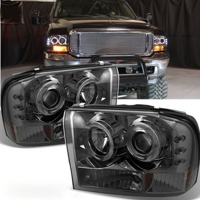 Ford Excursion 2000 2004 Smoked Dual Halo Projector