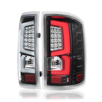 Gmc Sierra 2500hd 2015 2018 Custom Led Tail Lights Black