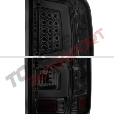 gmc sierra 2500hd 2015 2017 smoked custom led tail lights. Black Bedroom Furniture Sets. Home Design Ideas