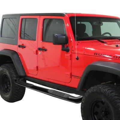 ... Jeep Wrangler JK 4 Door 2007 2016 Nerf Bars Black