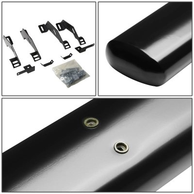Chevy 3500 Pickup Extended Cab 1988-1998 Nerf Bars Black 4 Inches Oval
