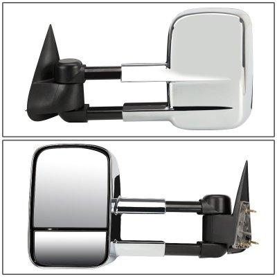 Chevy Silverado 1988-1998 Chrome Power Towing Mirrors