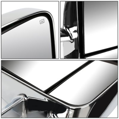 Chevy Silverado 2500HD 2001-2002 Chrome Towing Mirrors Power Heated Smoked LED Signal Lights