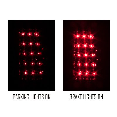 Cadillac Escalade 1999-2000 LED Tail Lights Red and Smoked