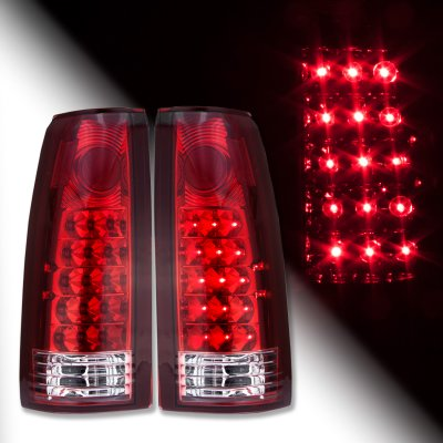 1996 chevy silverado led tail lights red and clear. Black Bedroom Furniture Sets. Home Design Ideas
