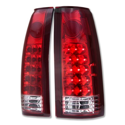 1992 GMC Jimmy Full Size LED Tail Lights Red and Clear