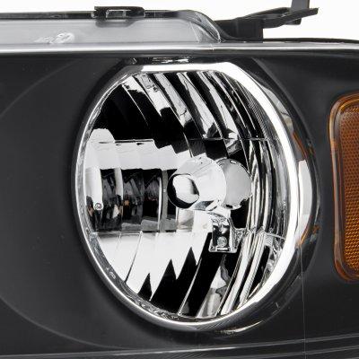 Ford F150 2004-2008 Black Euro Headlights