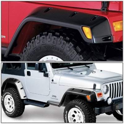 Jeep Wrangler TJ 1997-2006 Fender Flares 4x4 Pocket Rivet