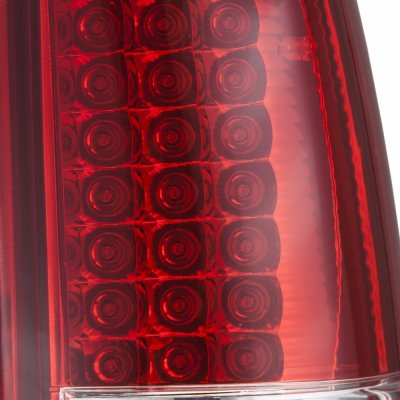 Chevy Silverado 2500HD 2003-2006 Smoked Headlights and LED Tail Lights Red Clear