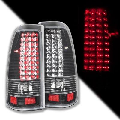 Chevy Silverado 2500HD 2003-2006 LED Tail Lights Black