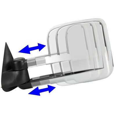 Chevy Blazer Full Size 1992-1994 Chrome Towing Mirrors Manual