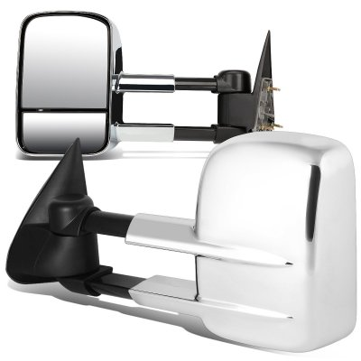 Chevy Silverado 1988-1998 Chrome Towing Mirrors Manual
