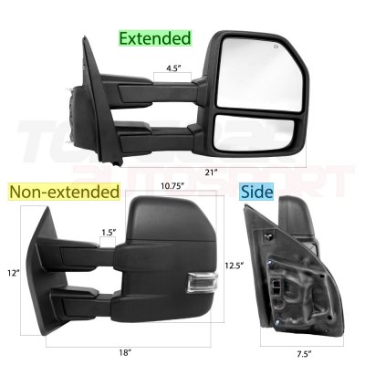 Ford F150 2015-2020 Towing Mirrors Power Heated LED Signal 8 Pins