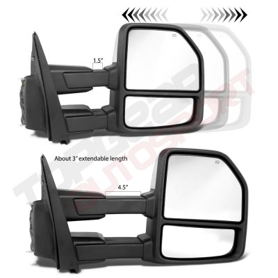 Ford F150 2015-2019 Chrome Towing Mirrors Power Heated LED Signal 8 Pins