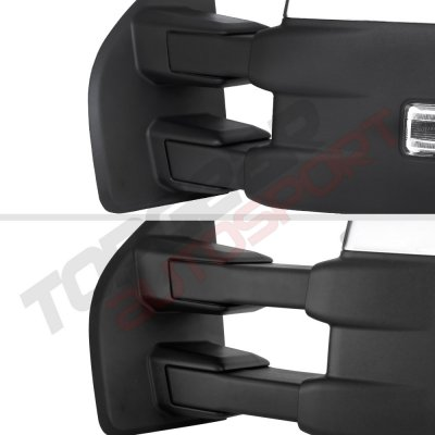 Ford F150 2015-2020 Chrome Towing Mirrors Power Heated LED Signal 8 Pins