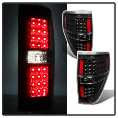 Ford F150 2009-2014 Black LED Tail Lights