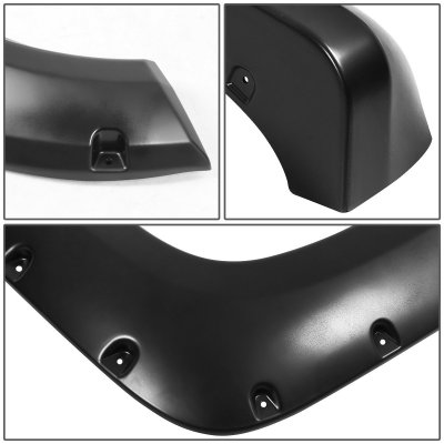 Chevy 1500 Pickup 1988-1998 Fender Flares Smooth Rivet Bolt Style