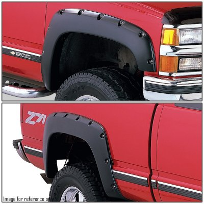 1993 Chevy 3500 Pickup Fender Flares Smooth Rivet Bolt Style