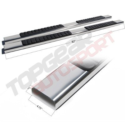 Chevy Silverado 2500HD Extended Cab 2001-2006 Running Boards Stainless 5 Inches