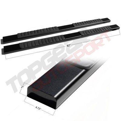 Chevy Silverado 1500 Extended Cab 2007-2013 Running Boards Black 5 Inches