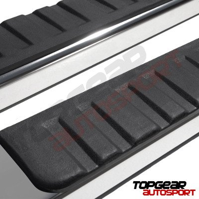 Chevy Silverado 1500 Crew Cab 2014-2018 Running Boards Stainless 5 Inches