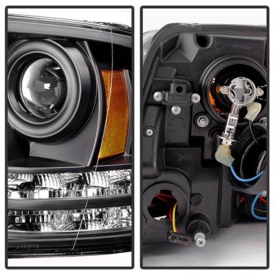 Dodge Ram 2009-2017 Black Projector Headlights Tube DRL